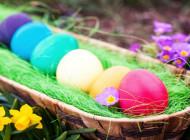 Красим пасхальные яйца натуральными красителями.